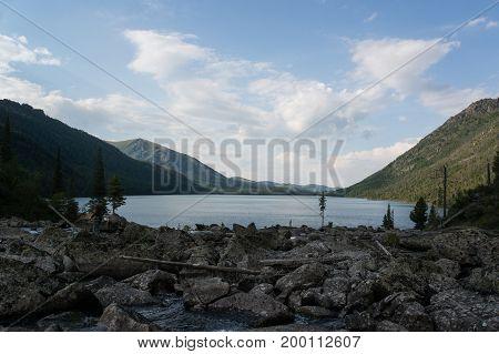 Rocks Near Multinskoe Lake, Altai Mountains. Russia.