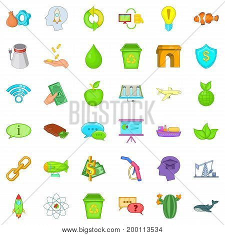 Eco protection icons set. Cartoon style of 36 eco protection vector icons for web isolated on white background