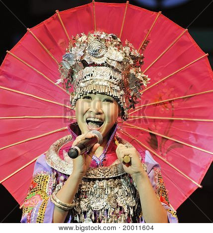 chinese Miao ethnic singer