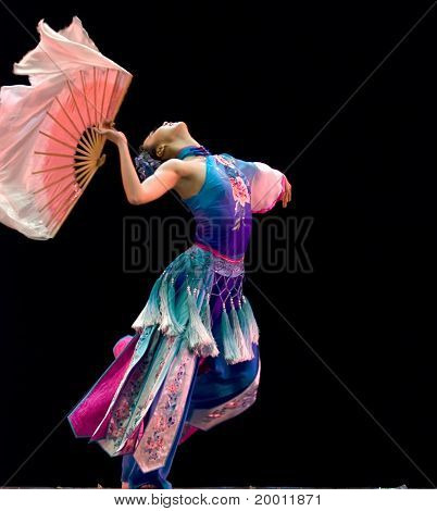 chinese modern dancing girl