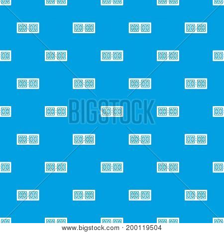 Scoreboard pattern repeat seamless in blue color for any design. Vector geometric illustration