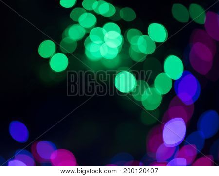 Casino bokeh lights.  Pattern of defocused blue and red lights. Gambling concept background.