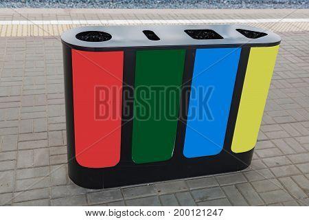 City Garbage Bin