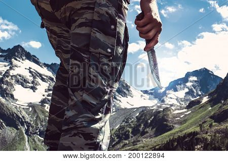 Combat Knife In Hand The Soldier