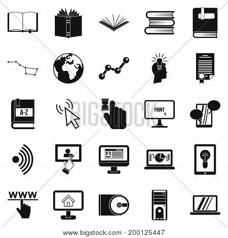 Boffin icons set. Simple set of 25 boffin vector icons for web isolated on white background