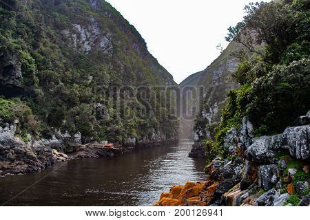 Landscape of Storms river in Tsitsikamma National Park - South Africa
