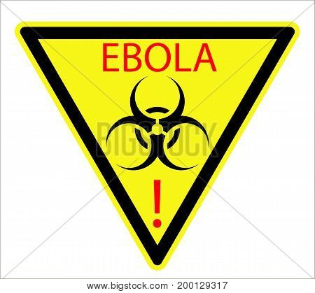 The biological sign of the Ebola virus, vector art illustration.