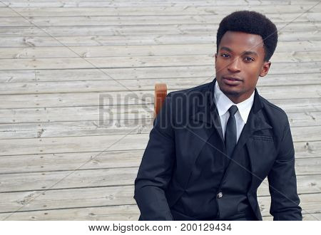 young man suit and tie business executive well dressed portrait