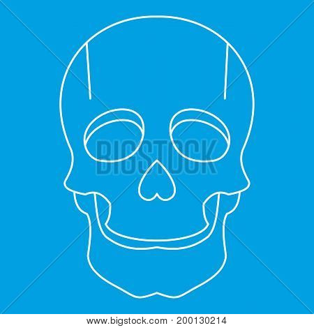 Singer mask icon blue outline style isolated vector illustration. Thin line sign