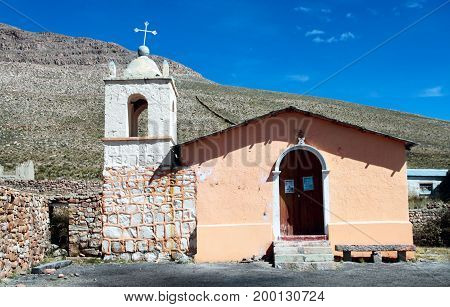 Forgotten church in Sumbay village, southern Peru