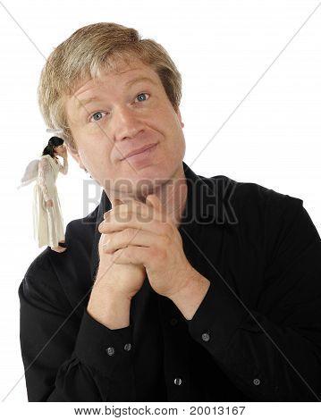 Angel On His Shoulder