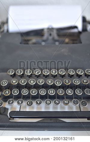 Details of Old typing machine, close up