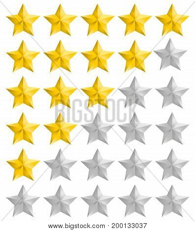 Isolated rating full and half stars vector