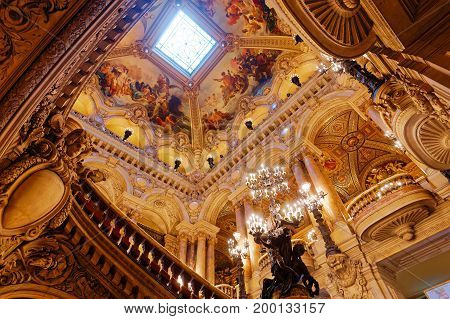 The Palais Garnier, Opera Of Paris, Interiors And Details