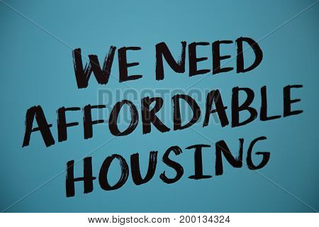 Written poster concept morgage unaffordable price urbanization