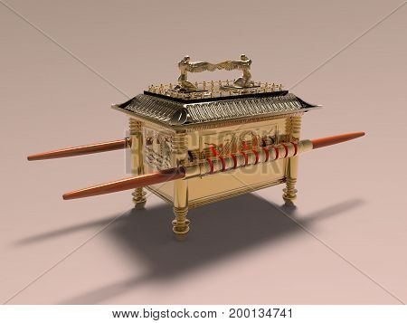 3d illustration of the Ark of the Covenant