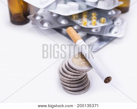 Smoking cost lot of money and cigarettes is ruining your health