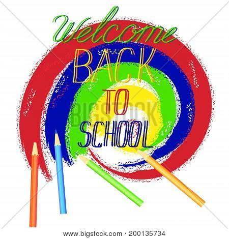 Vintage Back To School Banner. Typography for posters invitations greeting cards. Vector design lettering calligraphy.