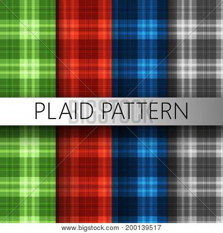 Plaid pattern texture green red blue black