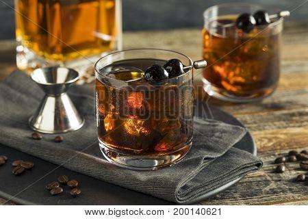 Homemade Boozy Coffee Old Fashioned