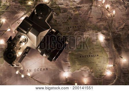 Map Of The World, Travel Australia Concept