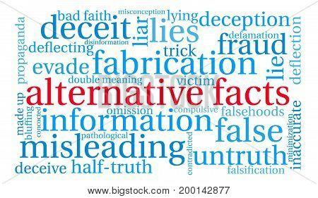 Alternative Facts Word Cloud