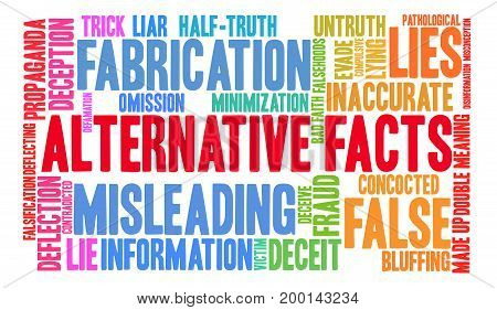 Alternative Facts Word Cloud