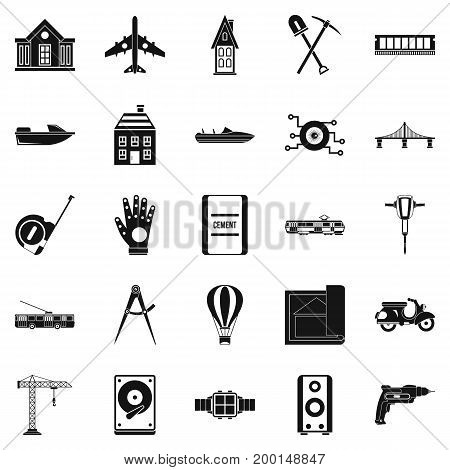 Figure icons set. Simple set of 25 figure vector icons for web isolated on white background