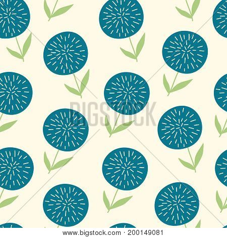 Vector seamless pattern with hand drawn floral elementson light yellow background. Can be used for wallpaper poster design wrapping paper surface texture web backgrounds print on textile and covers
