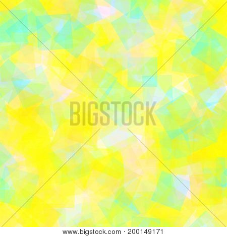 Abstract Squares Pattern. White Geometric Background. Resplendent Random Squares. Geometric Chaotic