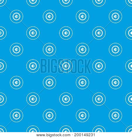 Eye pattern repeat seamless in blue color for any design. Vector geometric illustration