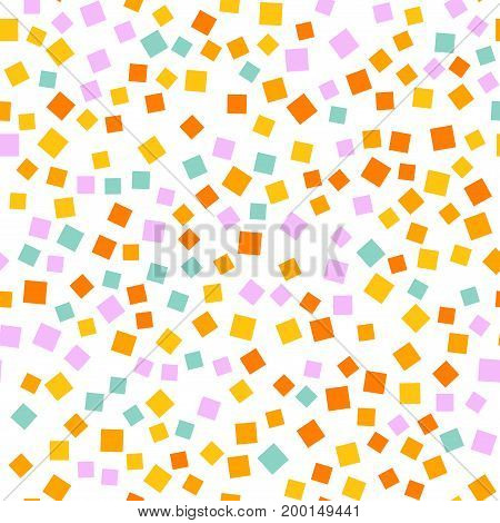 Abstract Squares Pattern. White Geometric Background. Wonderful Random Squares. Geometric Chaotic De