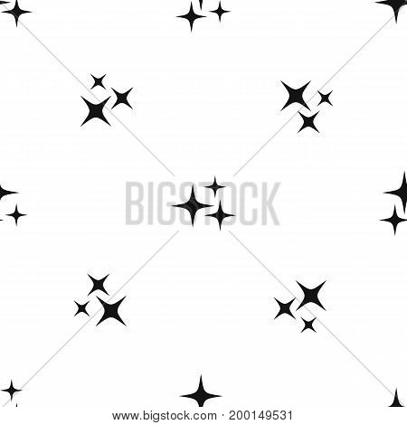 Stars pattern repeat seamless in black color for any design. Vector geometric illustration