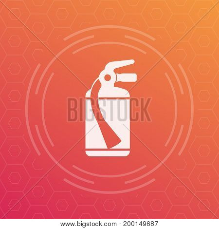 fire extinguisher icon, vector symbol, eps 10 file, easy to edit