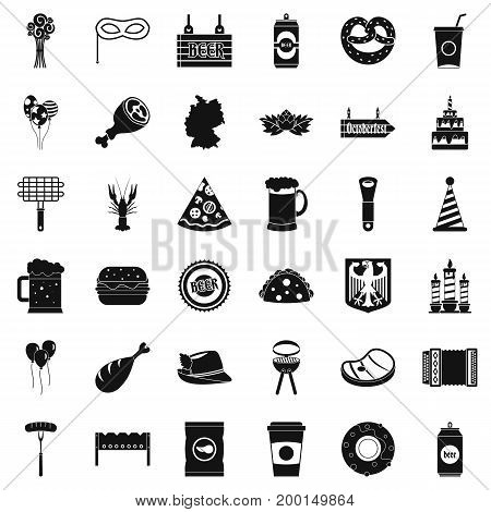 Beer holiday icons set. Simple style of 36 beer holiday vector icons for web isolated on white background