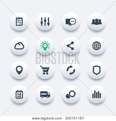 web icons set, internet, e-commerce, shopping, communication, business, analytics