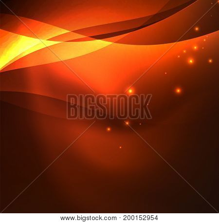 abstract illuminated neon waves