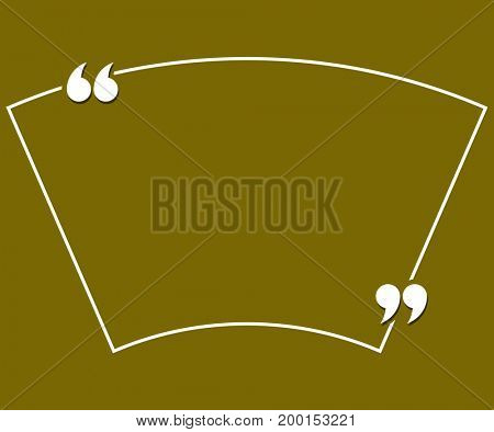 Quotation Mark Speech Bubble  Raster Illustration