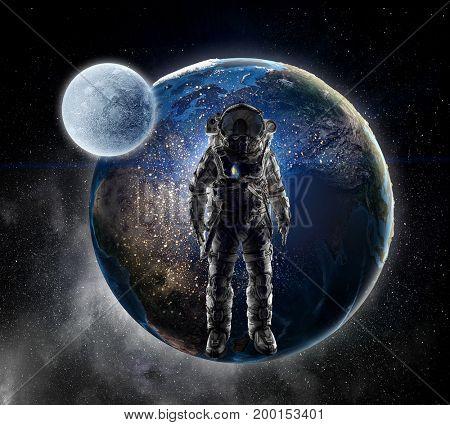 Adventure of spaceman. Mixed media . Mixed media