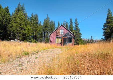 Abandoned house in Sierra nevada mountains