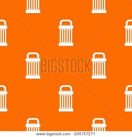 Trash pattern repeat seamless in orange color for any design. Vector geometric illustration