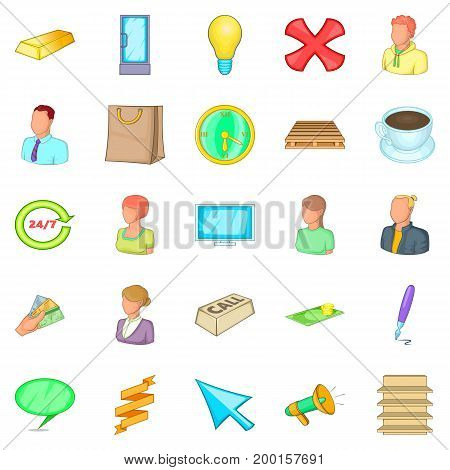 Incorporation icons set. Cartoon set of 25 incorporation vector icons for web isolated on white background