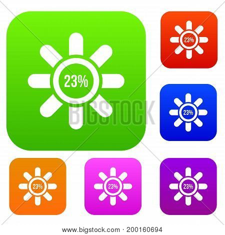 Sign 23 load set icon in different colors isolated vector illustration. Premium collection