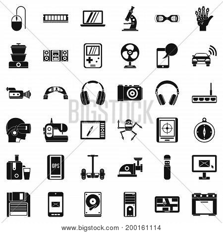 Good device icons set. Simple style of 36 good device vector icons for web isolated on white background