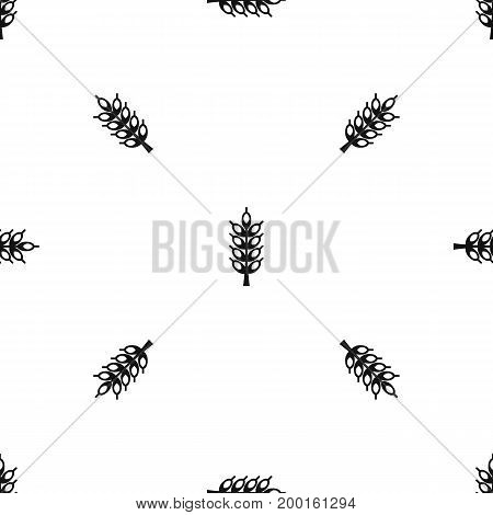 Big spike pattern repeat seamless in black color for any design. Vector geometric illustration