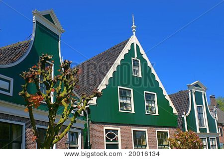 Traditional rural houses in the Netherlands