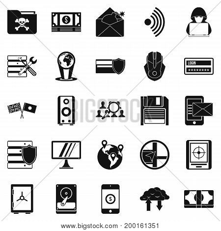 Globalization icons set. Simple set of 25 globalization vector icons for web isolated on white background
