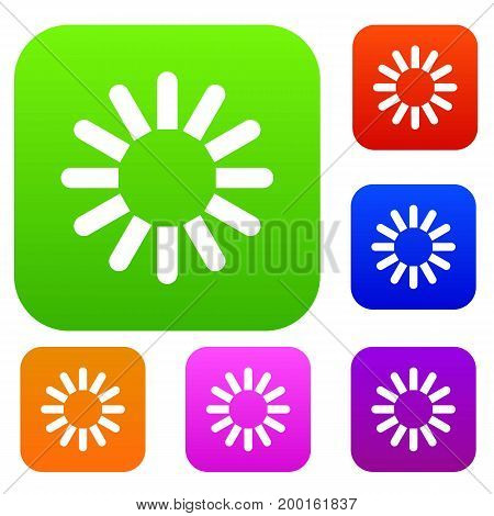 Sign download set icon in different colors isolated vector illustration. Premium collection