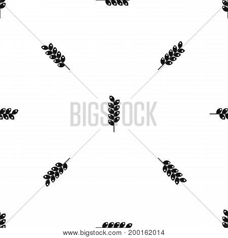 Tight spike pattern repeat seamless in black color for any design. Vector geometric illustration