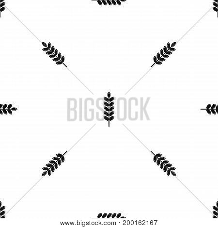 Big grain spike pattern repeat seamless in black color for any design. Vector geometric illustration